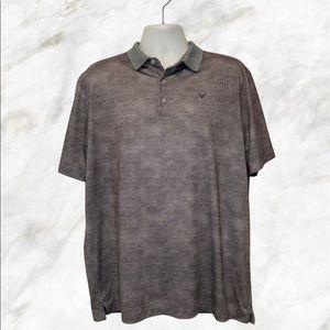 CALLAWAY Men's Grey Short Sleeves Opti Dri Polo